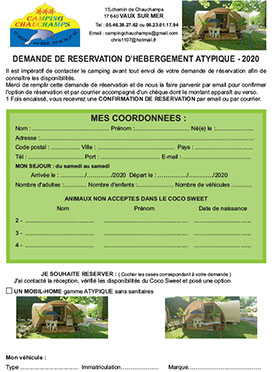 Contrat location Camping Chauchamps